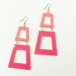 Funky Hot Pink Earrings